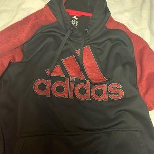 adidas Jackets & Coats - Black and Red Adidas Hoodie